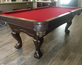 Ft Dauphine Pool Table Industrial Style Legs With Rustic Etsy - Industrial style pool table
