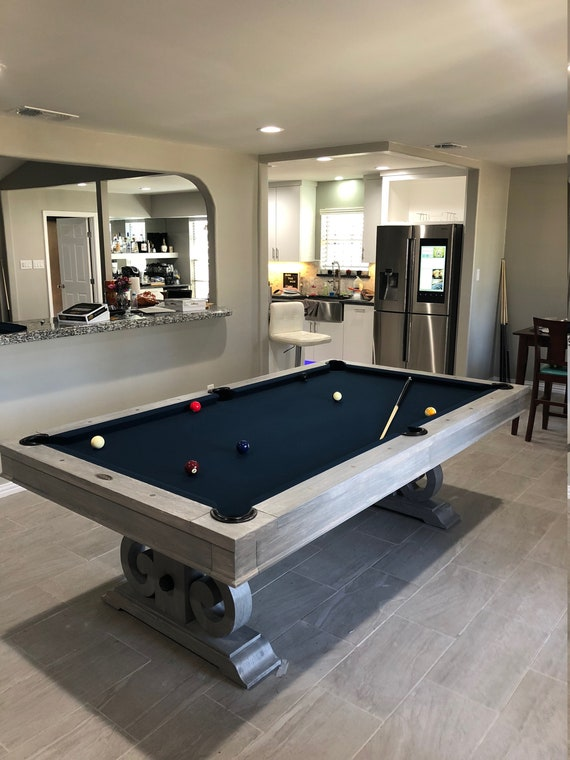 Amazing Custom 7u0027 Or 8u0027 Elegant Pool Table Grey Wash Finish | Etsy