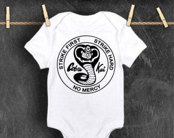 Cobra Kai Karate Kid cute babygrow bodysuit various colours available