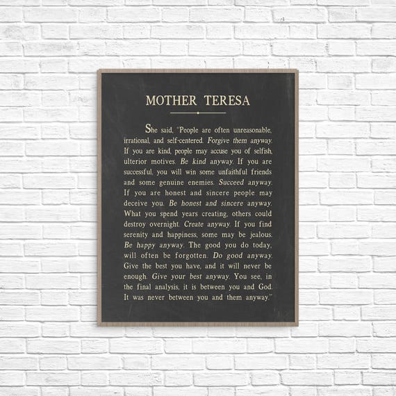 lines on mother teresa