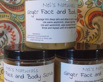 Face sugar/salt scrub, body scrub, pampering