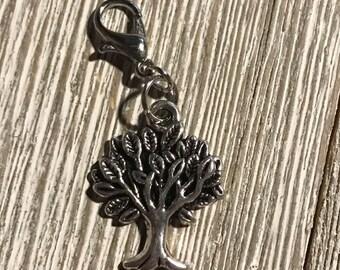 Tree Progress Keeper, Knitting, Crochet, Stitch Marker, Fiber Jewelry