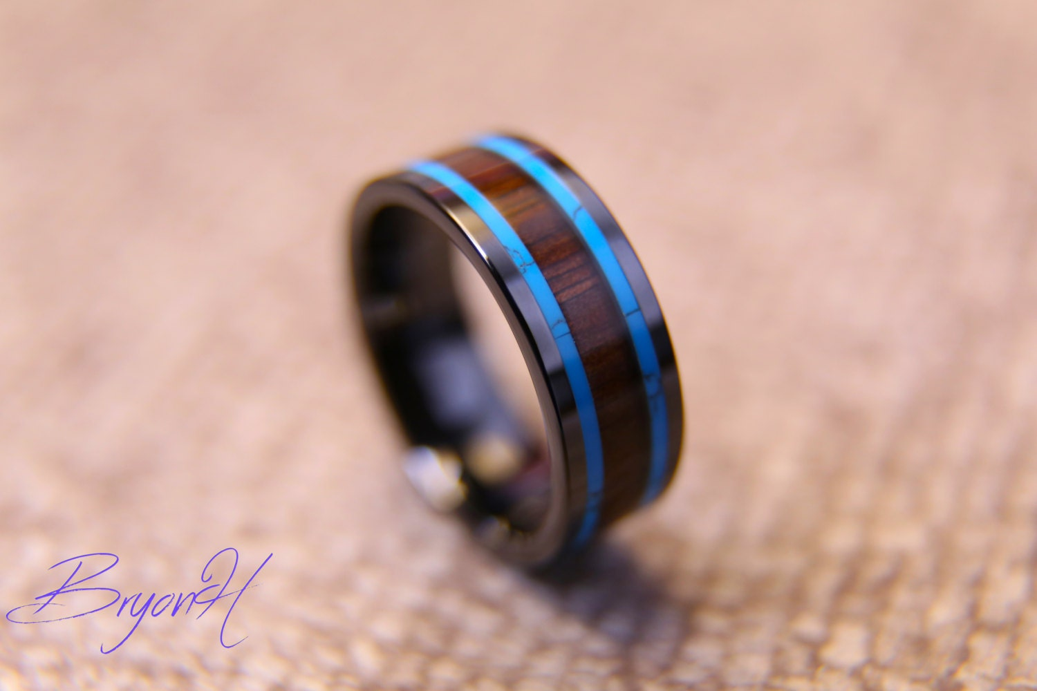 Inlay Wood Black Carbon Fiber ring wood wedding bands Black | Etsy