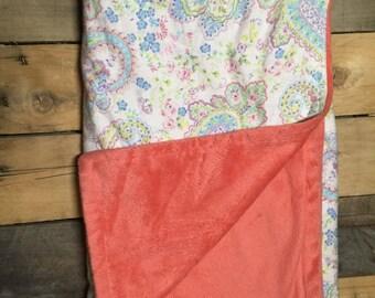 Paisley baby blanket