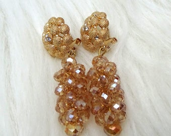Gold Just Earring Crystal Beads Earring Jewellery