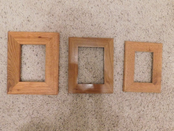4x6 And 5x7 Oak Frames Finished 5339 Etsy