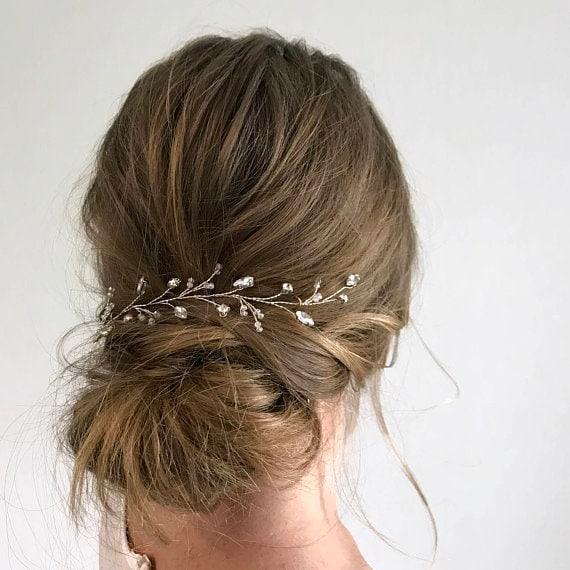 Rhinestone wedding hair pieces Crystal hair