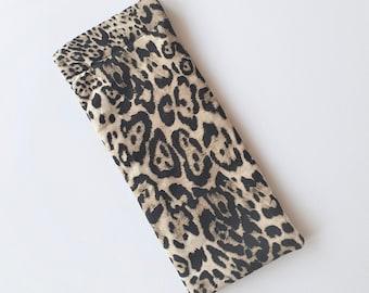 Leopard Print Glasses Case, Glasses Sleeve, Sunglasses Holder