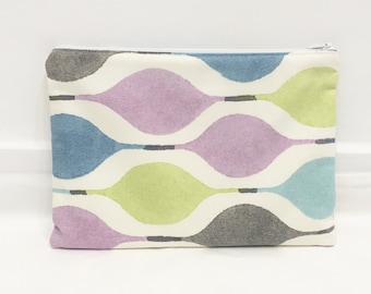 Geometric iPad Cover / Tablet Case/ iPad Case - Made from Cotton Fabric With Purple, Lime, Blue and Black Shapes