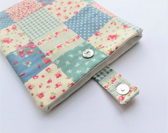 Patchwork Kindle Case, Floral e-Reader Case, Shabby Chic Kindle Cover