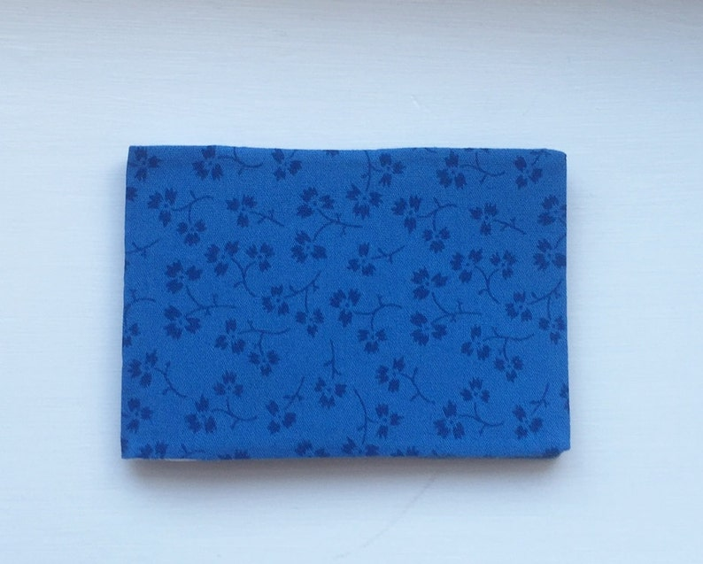 blue business card holder  fabric oyster card holder with