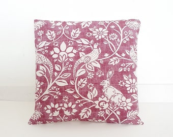 Dusty Pink Woodland Cushion Cover - 40x40 cm