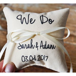 Wedding ring pillow wedding pillow ring bearer pillow ring holder today i married my best friend R77 Personalized Ring bearer pillow