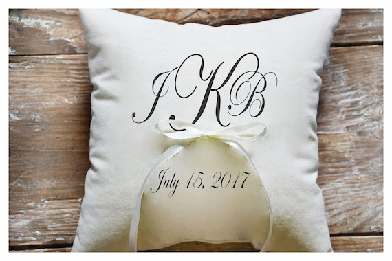 Ring bearer pillow personalized ring bearer pillow,7x7 inch R6 ring pillow Custom embroidered ring bearer pillow wedding ring pillow