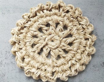 Ecological natural dish bottom zero waste Round in natural jute