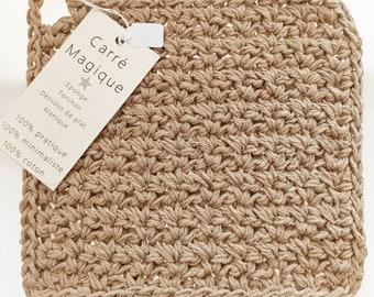Magic Square: manic sponge dish towel underside without plastic Zero Waste Grey 100% cotton Minimalism