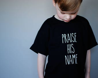 Praise His Name Youth Shirt