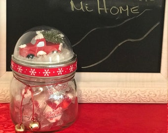 Christmas Candy Jars Etsy