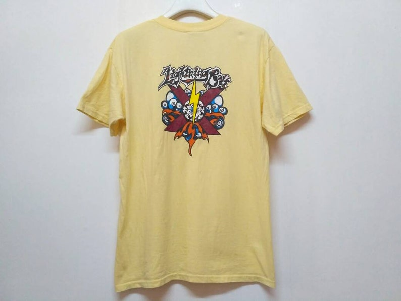 91da98a7be9ba Vintage 90's Lightning Bolt Surf Surfing Skate Tee