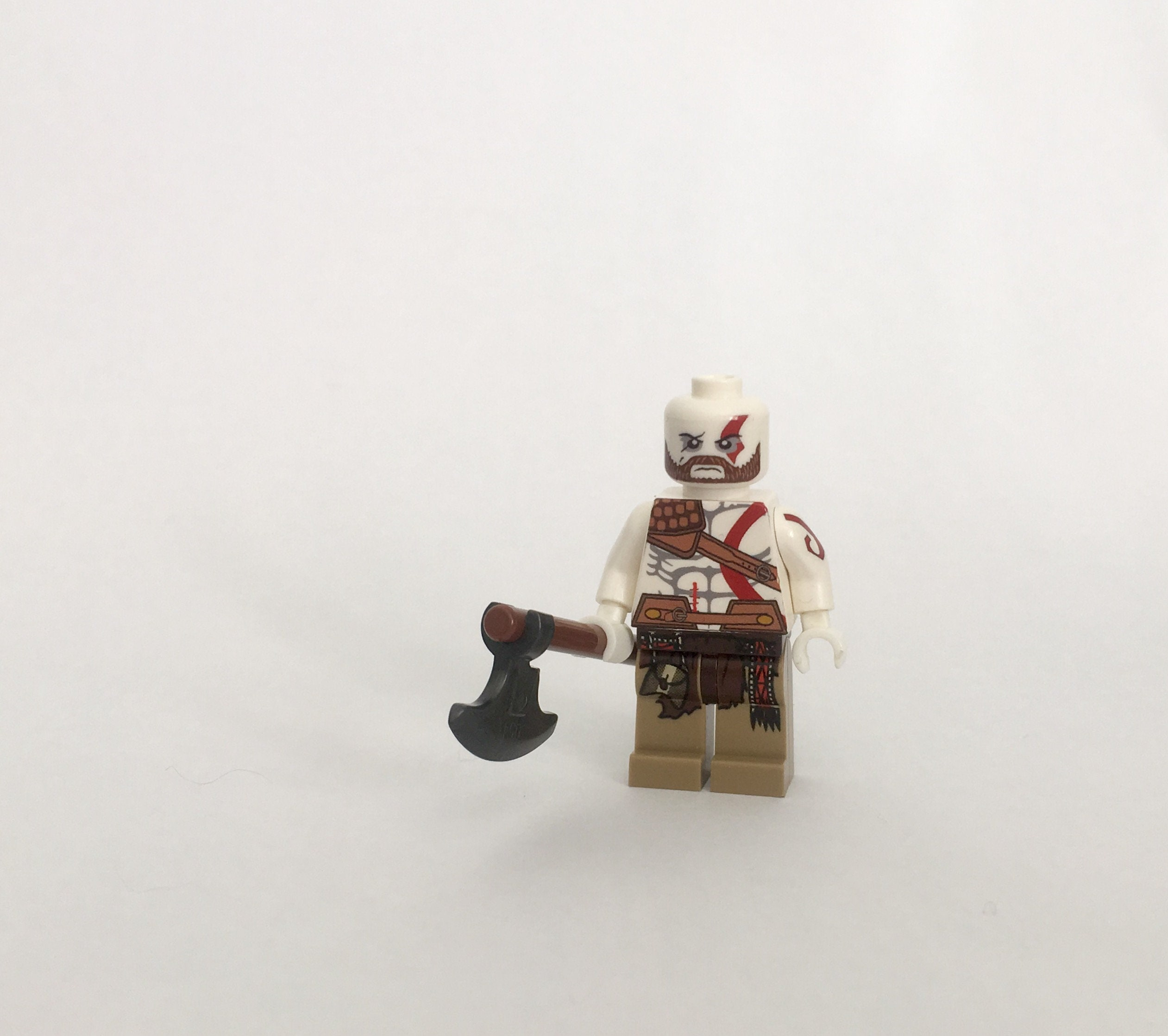 Kratos from God of War Custom Minifigure made from Lego Parts | Etsy