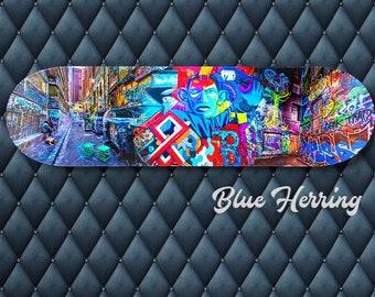 Skateboard Wall Art, Graffiti Gift, Street Art Decor, Melbourne Print, Teen Birthday, Boy Room Decor, personalised gift for dad, for husband