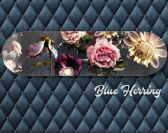 Floral Skate Deck, Flower skateboard, Flower Photo Wall Art, wilted flowers, bedroom decor, floral moody print, romantic gift for girlfriend