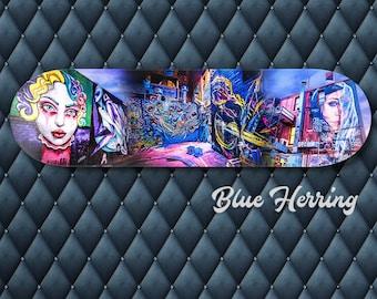 Graffiti Wall Art, Skateboard Decor, Unique gifts for her, Street Art Print, Melbourne Australia, Birthday gifts for him, Teen Room Decor
