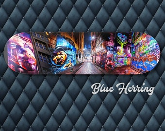 Skateboard Wall Art, Graffiti Gift, Street Art Poster, Melbourne Print, Teen boy bedroom, Boyfriend Birthday Gift, Cool Apartment Decor