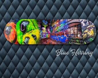 Skateboard Deck Wall Art, Graffiti Street Art, Photography Collage, Melbourne Print, teenage boy girl room decor, boyfriend gift, travel art