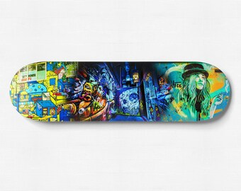 Skateboard Deck Decor, Graffiti Gift, Street Art Photography, Melbourne Print, Spray Paint, Boy Room Art, Boyfriend Gift for, Cool Wall Art