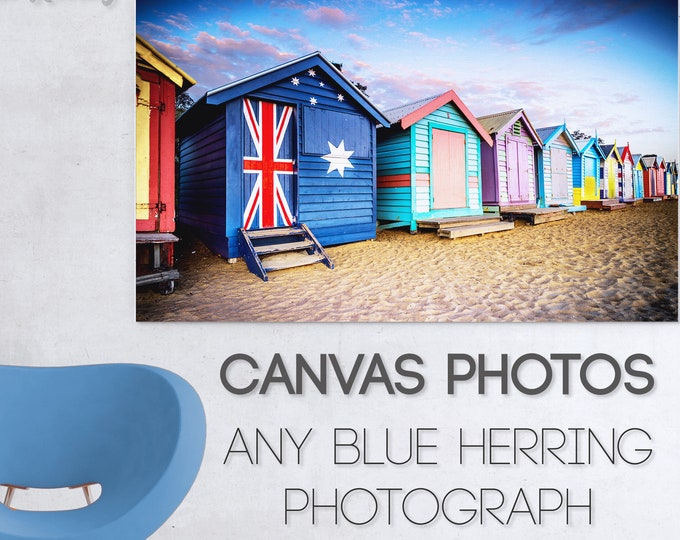 Featured listing image: Custom Canvas Photograph, Photos to Canvas Prints, Street Art Graffiti, Melbourne Brighon Beach, Twelve Apostles St Kilda