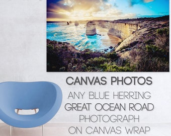 Custom Canvas, Twelve Apostles Print, Street Art Photograph, Graffiti wall art, personalised gift, Photo Poster, Melbourne Brighton Beach
