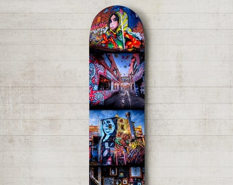 Graffiti Street Art, Skateboard Wall Art, Melbourne Australia, Teen Room Decor, Skate Deck Art, Photography Print, Boyfriend Birthday Gift