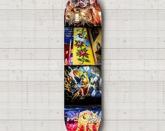 Skateboard Deck Wall Art Street Art Graffiti Skatedeck Melbourne Street Art Photography Wall Decor Boys Room Photo Unique Gift for Teenager