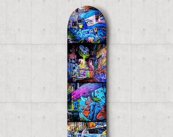 Skate Deck Art Graffiti Boys Room Decor Street Art Skateboard Decor Melbourne Photo Handmade Teen Boy Gift for Him