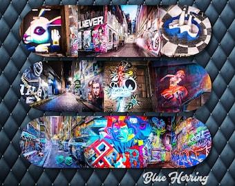 Skateboard Wall Art, Set of three, street art graffiti, Alice in Wonderland, Girls Just Wanna Have, teen decor, boy room idea, birthday gift