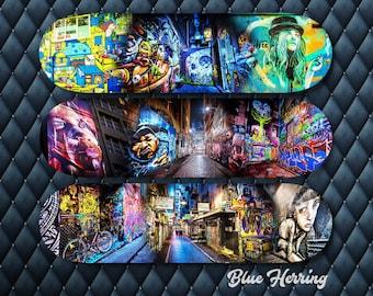 Set of Three Wall Art, Skateboard Deck Decor, Graffiti Gifts, Teen Boy Decor, Street Art Photography, Melbourne Poster, Man Cave ideas, June