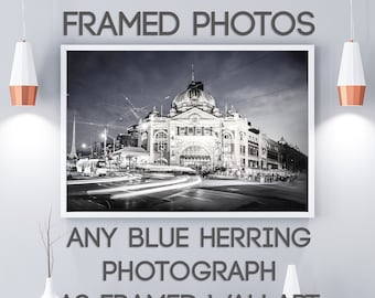 Framed Wall Art, Custom order, Black and White Art, Melbourne Photo, Personalised gift, Made to Order, Photography gifts, Blue Herring