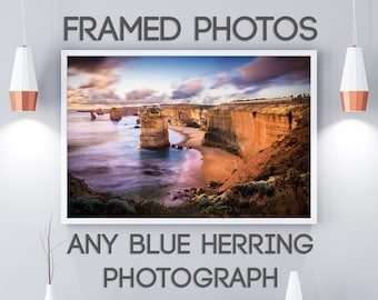 Framed Art Print, Personalised gift, Twelve Apostles, Melbourne Photo, Great Ocean Road, Made to Order, Photography gifts, Blue Herring