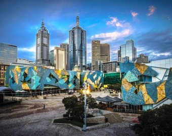 Melbourne Photograph, Australia Print, city wall art, Photography Prints, skyline poster, Travel Poster, sunset art, Birthday Gift for him