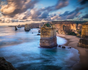 Great Ocean Road Art, Twelve Apostles, Panoramic Wall art, National Park Prints, Australia Photography, Travel Decor, Zoom Background, gift