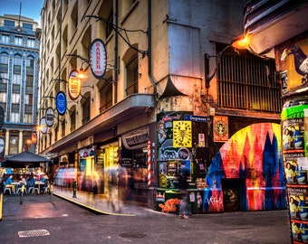 Graffiti Art, Street Art Print, Melbourne Photograph, Degraves Street, Fathersday Gift, Urban Wall Art, laneway photo, Birthday Gift for Him