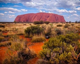Uluru Poster, Australia Travel Photo,  Kata Tjuta National Park Photograph, Ayers Rock, Northern Territory, Alice Springs, Aboriginal Art