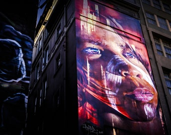 Graffiti Photography, Street Art Photo, Melbourne Print, Hosier Lane, spray paint art, indigenous art, apartment warming gift, for boys