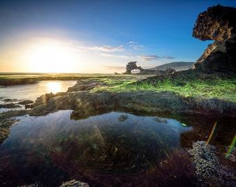Mornington Peninsula, Ocean Wall Art, Australian landscape, Coastal Print, Sunset Photo, Beach Decor, National Park, Wedding Gift, Postsea