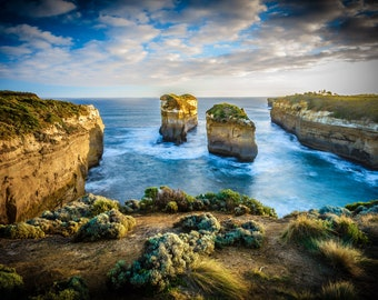 Great Ocean Road Art, Australia Beach Print, Twelve Apostles, Loch Ard Gorge, National Park Photo, Coastal Decor, wedding present, travel