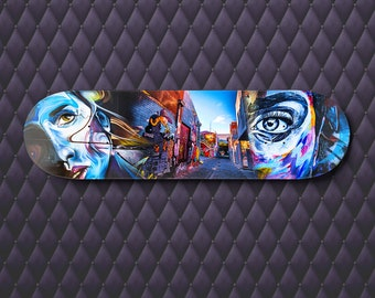 Skateboard Wall Art, Street Art Print, Graffiti Artwork, Melbourne Photo, teen room blue decor, House Warming, girlfriend gift, spray paint