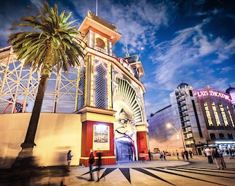 StKilda Wall Art Luna Park Photography Melbourne fine art photograph Birthday Gift for Her St Kilda 12x16 print Palais