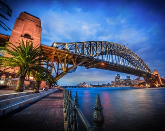 Sydney Harbour Bridge, Opera House, Sydney Print, Australia Poster, Zoom background, office wall art, Travel Photography, Christmas Gift