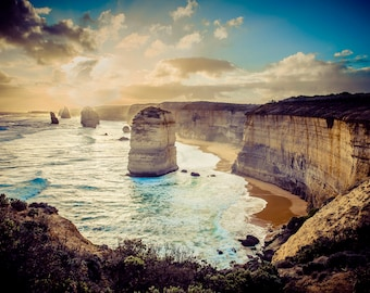 Australia Photograph Twelve Apostles Fine Art Beach Sunset Photography Wedding Gift for her Great Ocean Road 12x16 Print